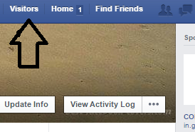 check visitors on facebook