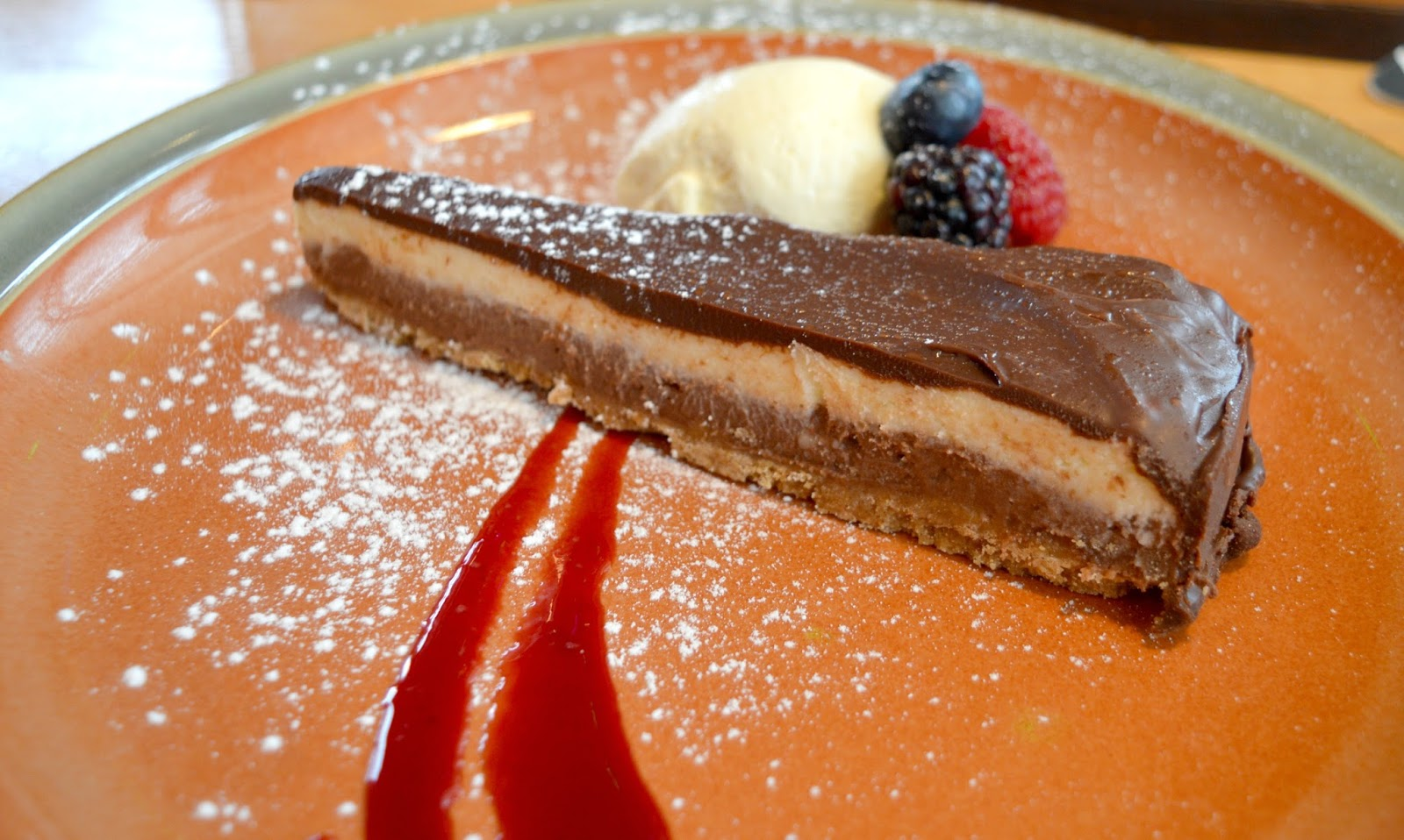 Sunday Lunch at Earl of Pitt Street  - Double Chocolate Cheesecake