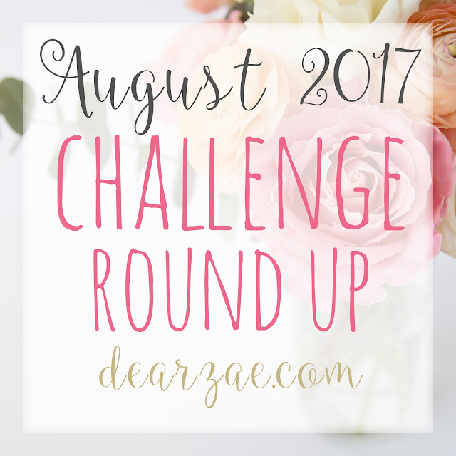August 2017 monthly scrapbooking challenge round up list