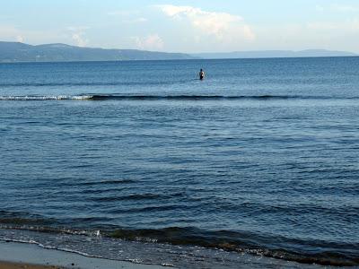 どこまで行っても浅瀬の窪田の海岸