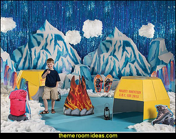 Mighty Mountain Stage Kit winter themed decorating ideas winter party props winter theme