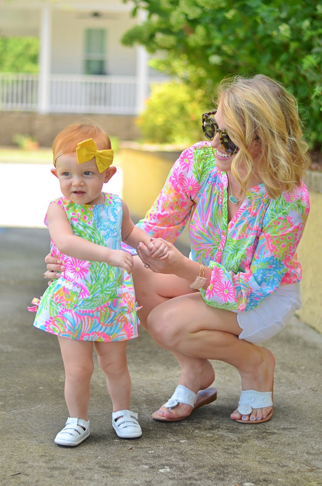 Matching In Lilly Pulitzer - Something Delightful Blog