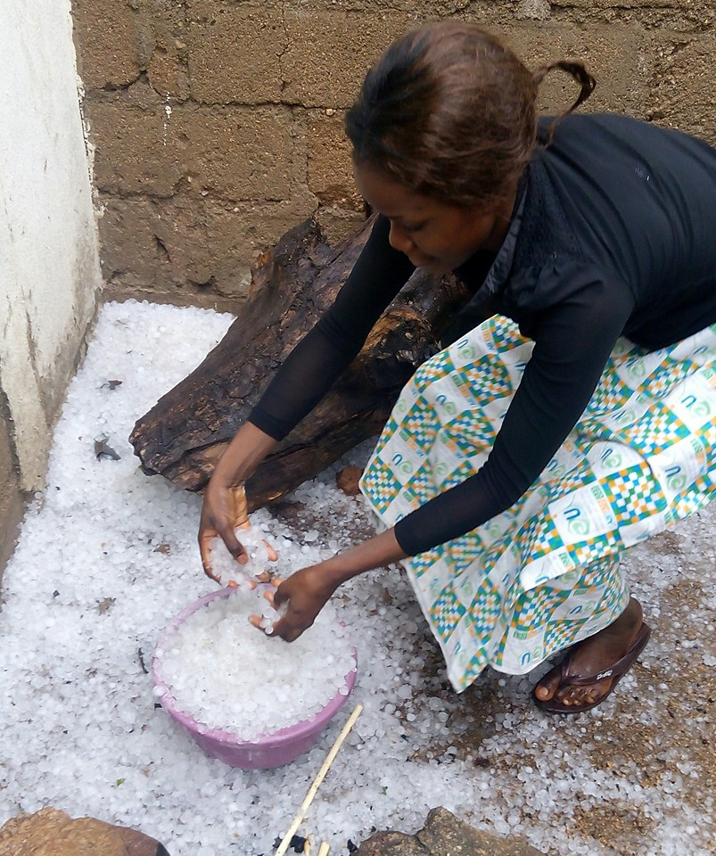 Excitement As Ice Rain, Snow Falls In Jos Plateau Nigeria