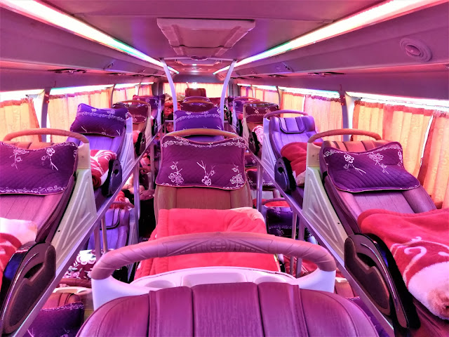 inside sleeper bus vietnam