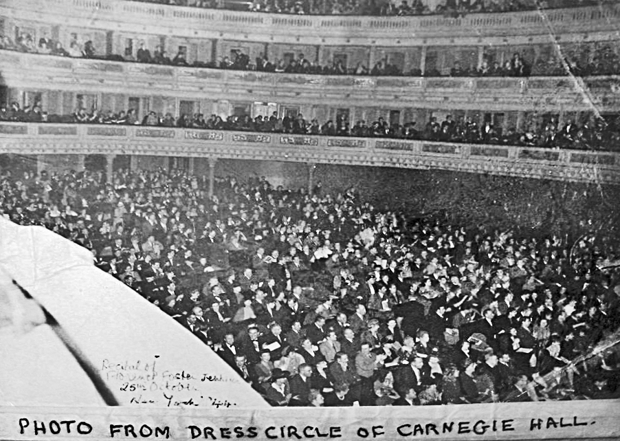 The audience at Florence Foster Jenkins' 1944 Carnegie Hall recital