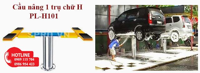 Cầu nâng 1 trụ rửa xe ô tô sản xuất tại Việt Nam