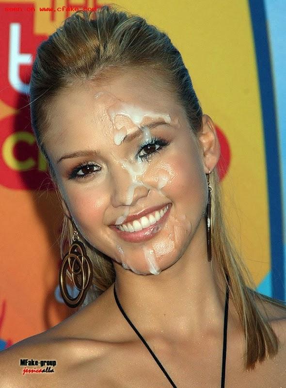 Jessica simpson cumshot facial