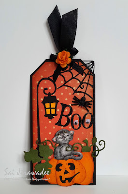 Magnolia Jasper Black Cat Tag