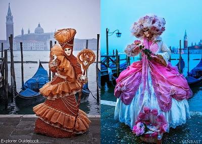 Carnival of Venice karnaval festival topeng venice italia
