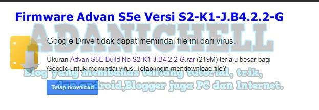 Firmware Advan S5e Versi S2-K1-J.B4.2.2-G