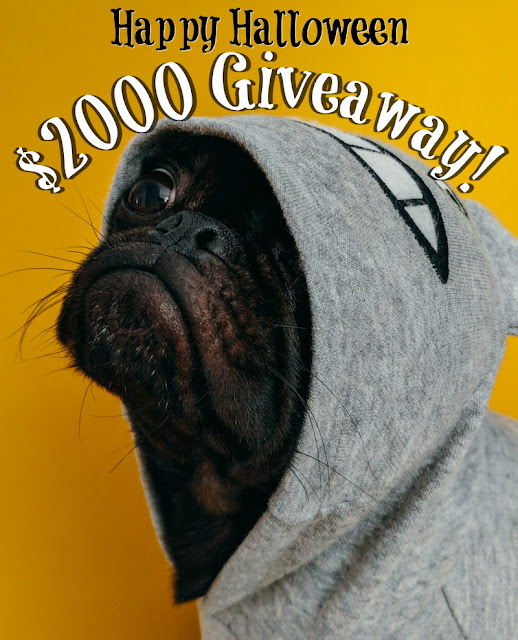Happy Halloween $2000 Cash Giveaway! Ends 10/25