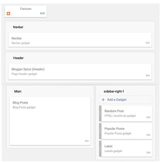 Nâng cấp Blogger Layout, Default Widget và Skin lên phiên bản mới