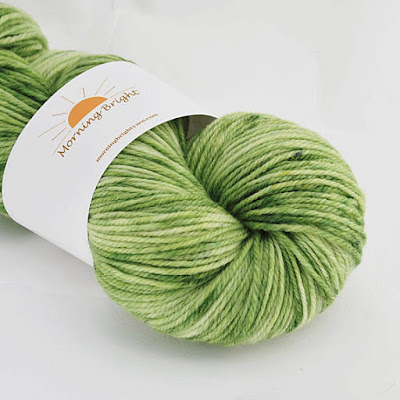 Makers' Monday, St. Patrick's Day green yarn