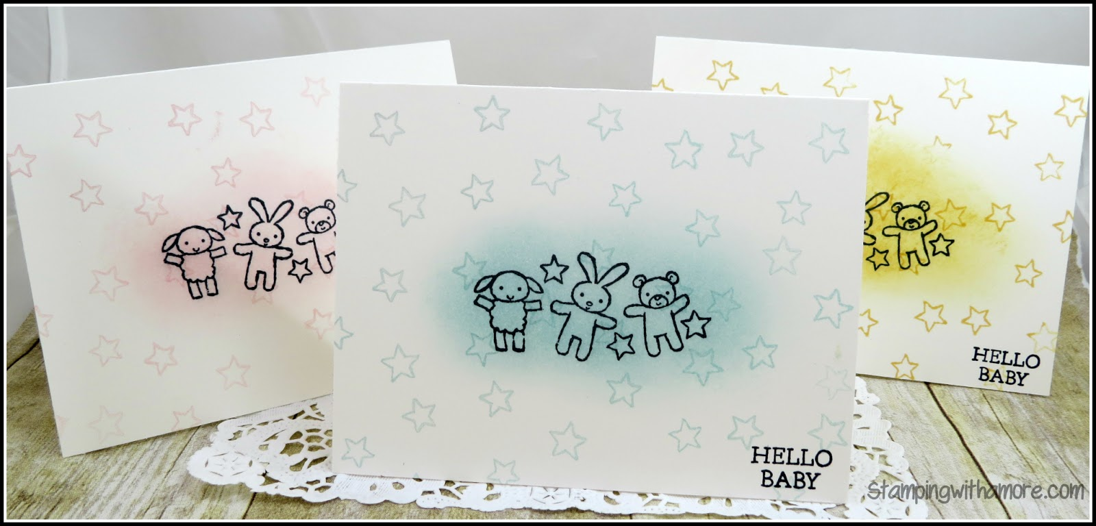 Stampingwithamore: TWINKLE, TWINKLE COORDINATING BABY CARD