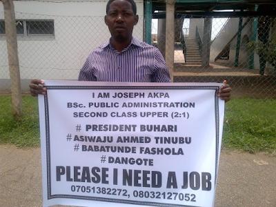 Nigerian Unemployed youths seeking job employment