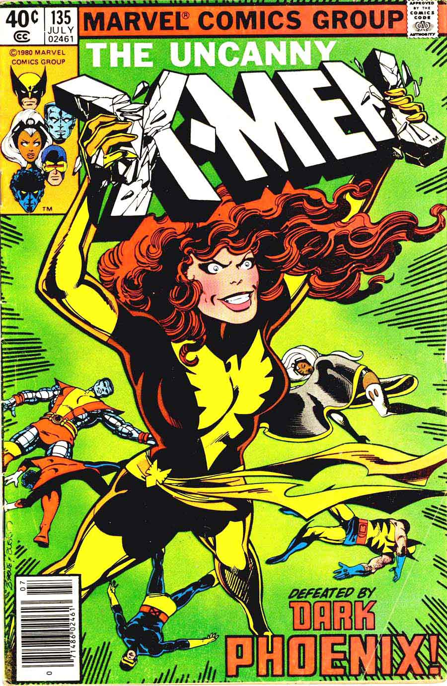 X-men v1 #135 marvel comic book cover art by John Byrne