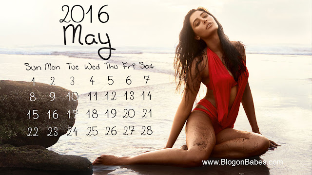 Nargis Fakhri May 2016 Red Bikini Wallpaper
