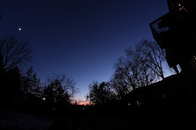 clear skies from backyard