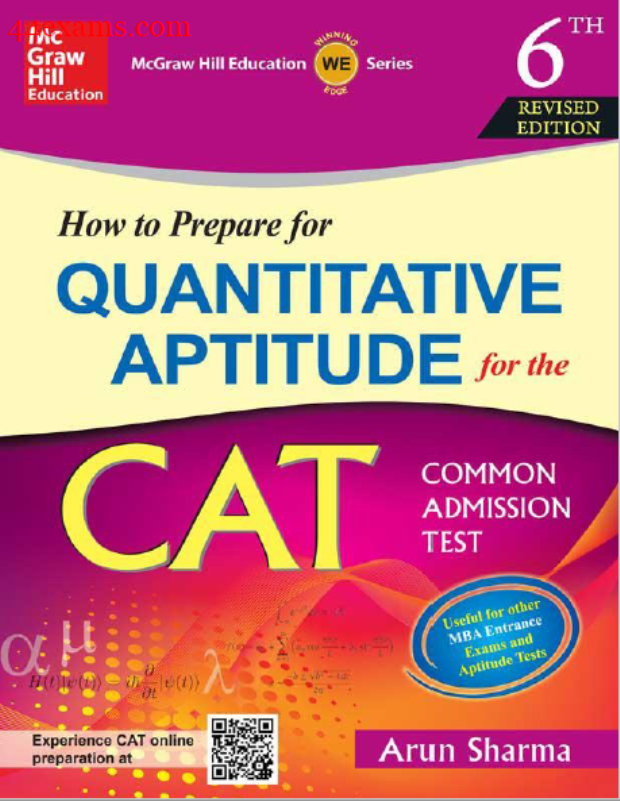 Quantitative Aptitude 6th Edition By Arun Sharma : For CAT Exam PDF Book
