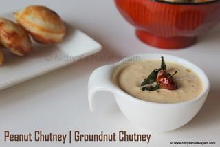Peanut Chutney - Groundnut Chutney