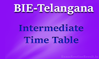 ts inter time table  - bie.telangana.gov.in