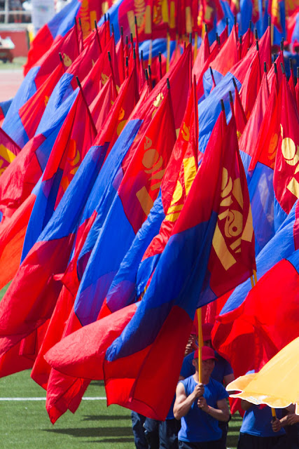 At the opening ceremony of the 2015 National Naadam Festival