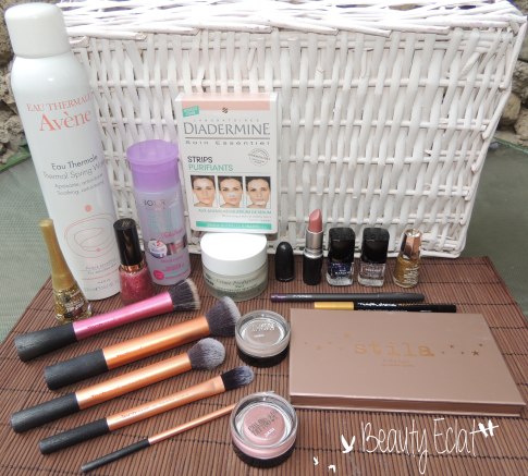 haul beaute avene bourjois real techniques stila