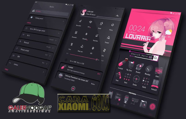 Thema Xiaomi Kimcil Lovaria Dark mtz Support MIUI 9 For Download