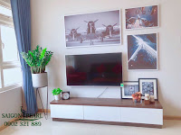 Thuê chung cư Saigon Pearl 2 phòng ngủ - tivi tại phòng khách