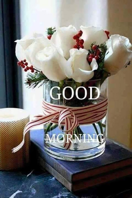 Good morning wish with glass