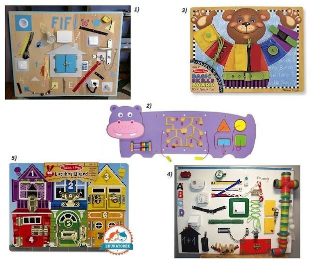 pomysł na prezent dla dziecka tablica manipulacyjna
