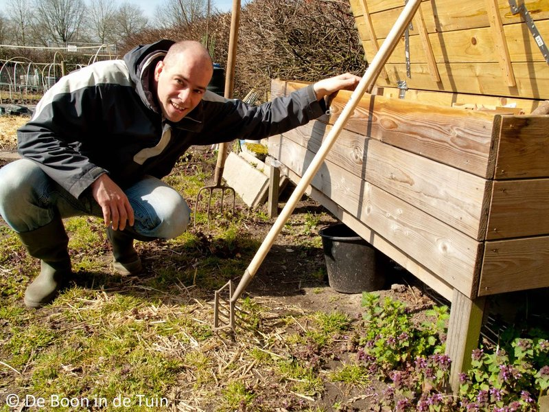 kees de boon in de tuin moestuinblog volkstuinblog