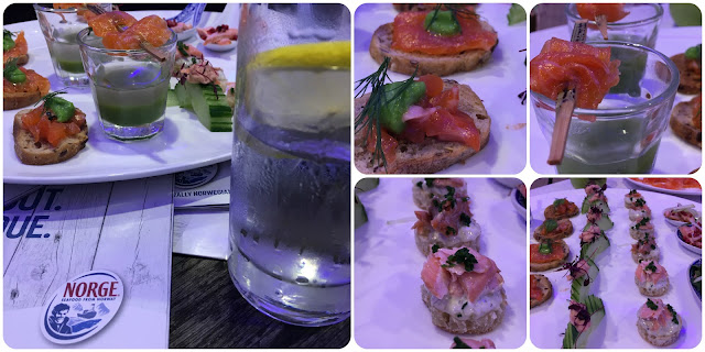 canapés made with Fjord Trout from Norway