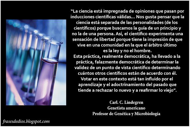 ciencia y fe frases lindegren