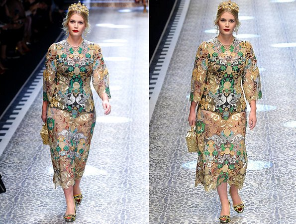 Lady Kitty Spencer, Princess Maria-Olympia and Lady Amelia Windsor at the Dolce & Gabbana show at Milan Fashion Week