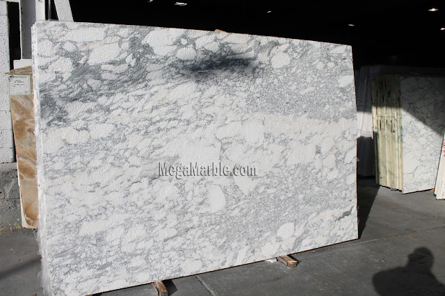 Arabescto Flame White Marble Slabs NYC