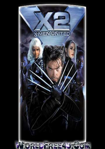 Poster Of X Men 2 (2003) In Hindi English Dual Audio 300MB Compressed Small Size Pc Movie Free Download Only At worldfree4u.com