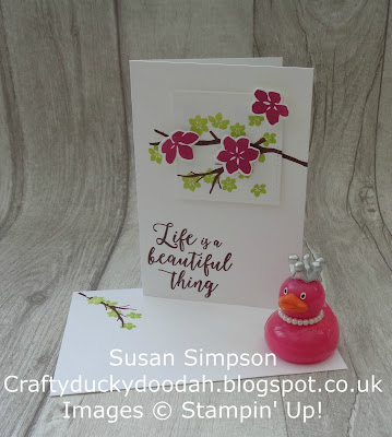 Stampin' Up! UK Independent  Demonstrator Susan Simpson, Craftyduckydoodah!, Colorful Seasons, Customer Thank You Cards June 2017, Supplies available 24/7. from my online store,