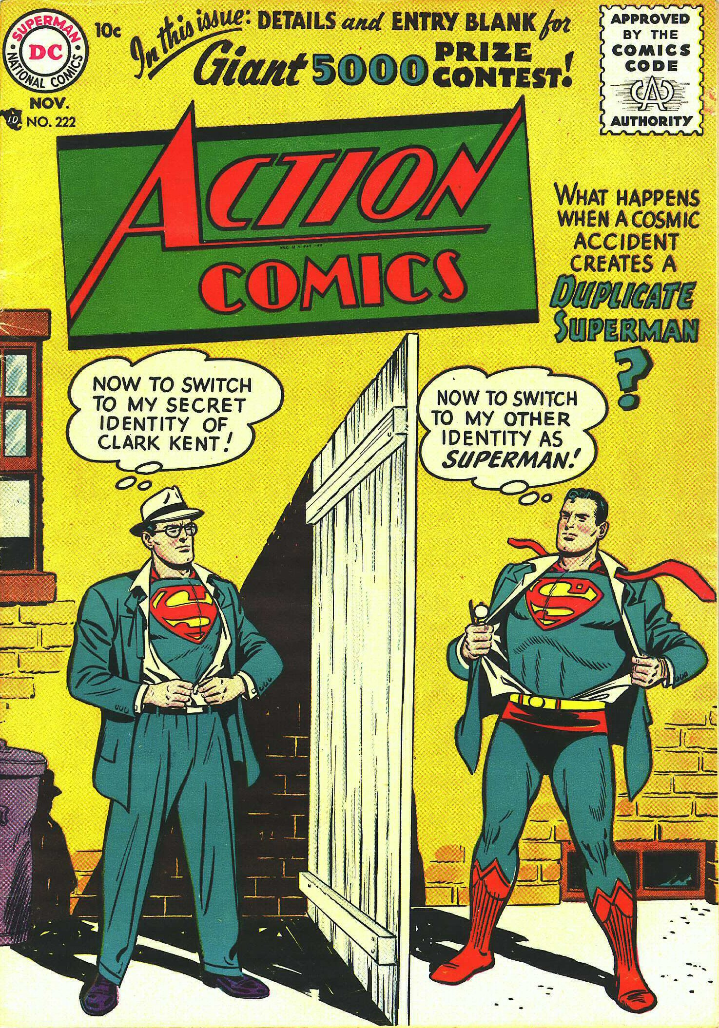 Read online Action Comics (1938) comic -  Issue #222 - 1