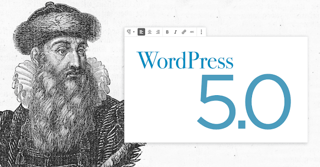 wordpress 5.0 terbaru gutenberg