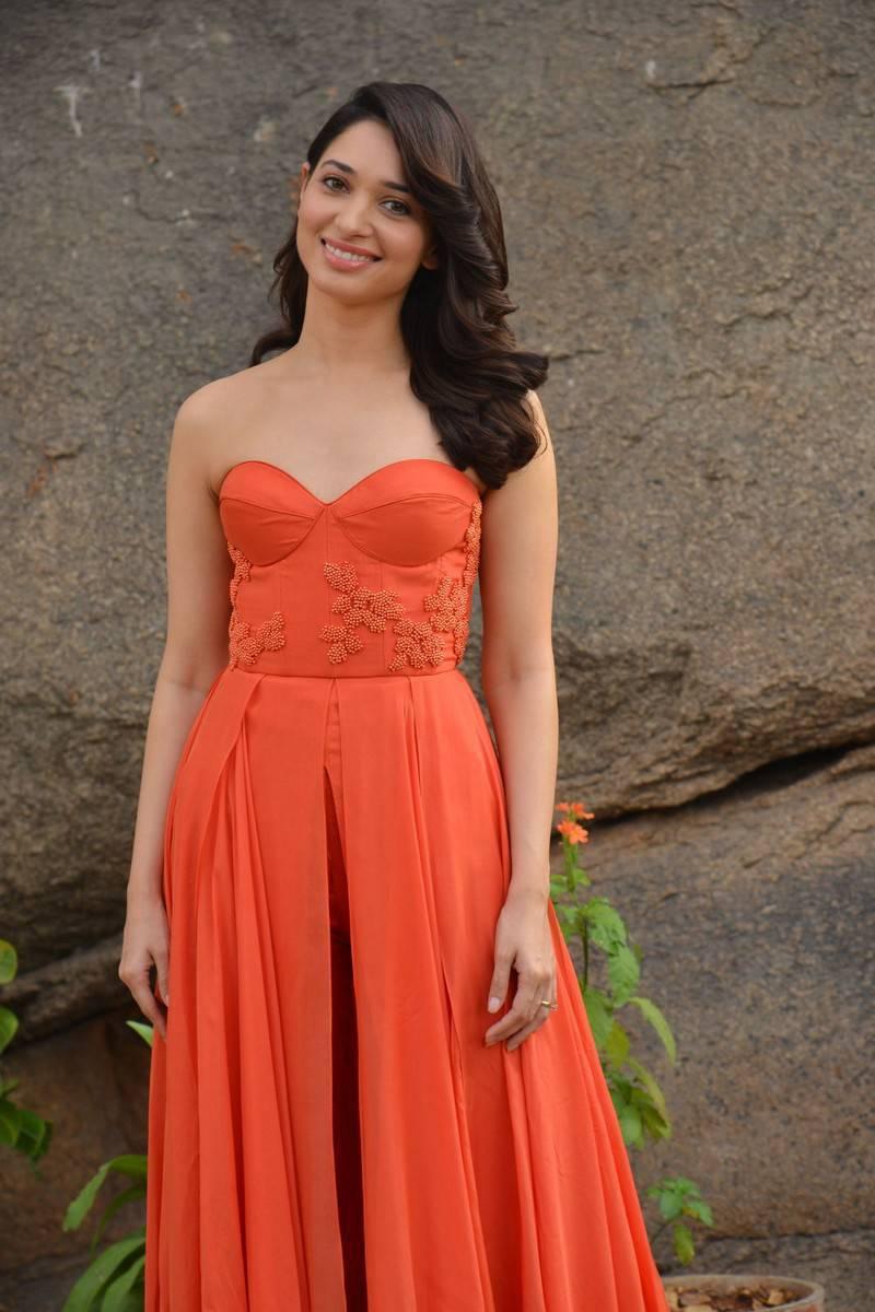 Tamanna Latest Hot Stills In Orange Top