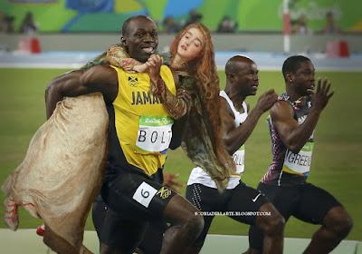 fotomontaggi-Olimpiadi-rio-2016-staffetta-Usain-Bolt con testimone