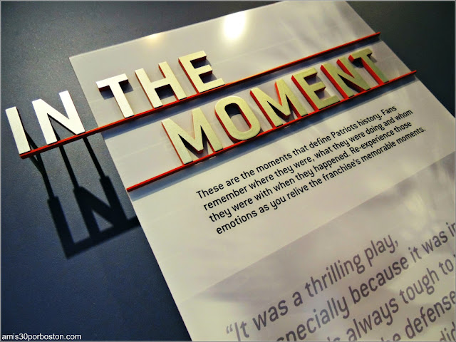 Exhibición In The Moment en el Museo The Hall at Patriot Place