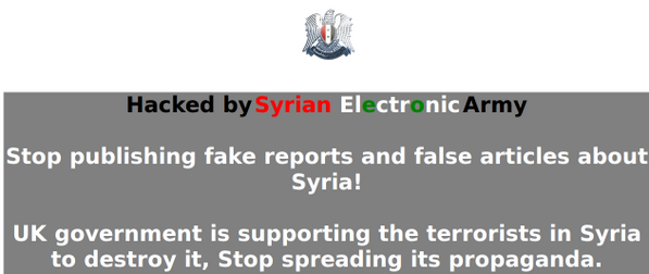 Syrian Electronic Army , The Sunday Times and The Sun's website