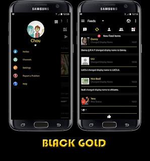 BBM MOD Black Versi Terbaru v3.0.1.25 APK Black Gold Theme