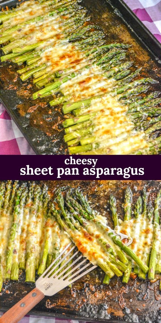 EASY GARLIC ROASTED CHEESY SHEET PAN ASPARAGUS [VIDEO]