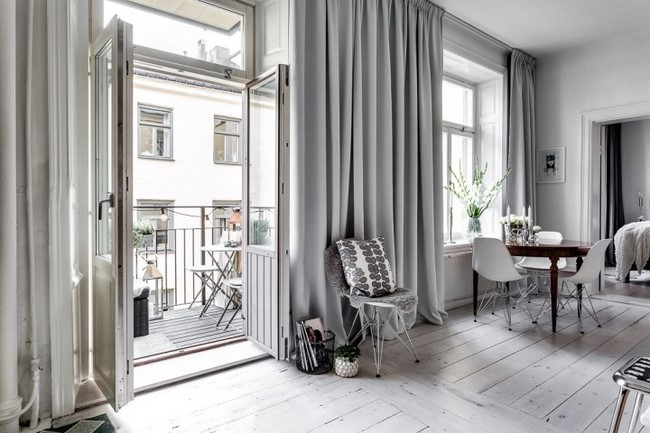 piso estilo nordico recibidor vintage