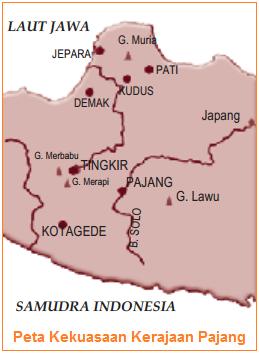 Peta wilayah kerajaan pajang