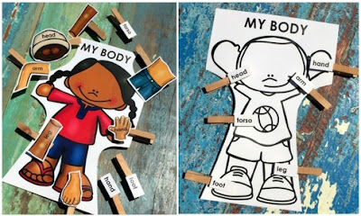 Practice matching body parts with these free activities!