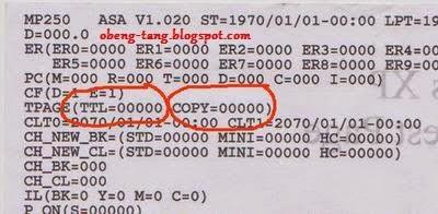 Cara Reset Canon MP258 Error 5B00 atau P07